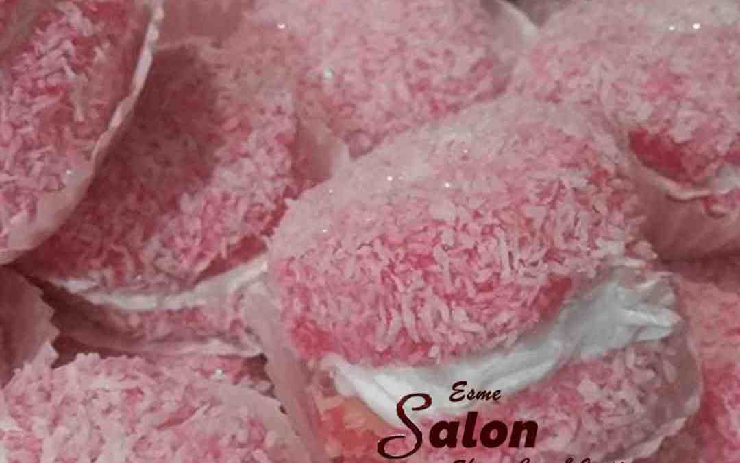 Raspberry Snowballs With Fresh Cream