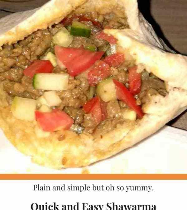 Quick and Easy Shawarma
