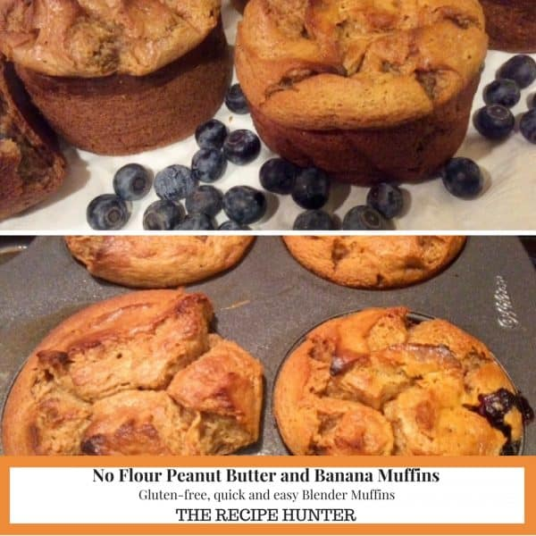 No Flour Peanut Butter and Banana Muffins