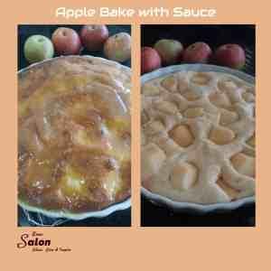 Apple Bake with Sauce