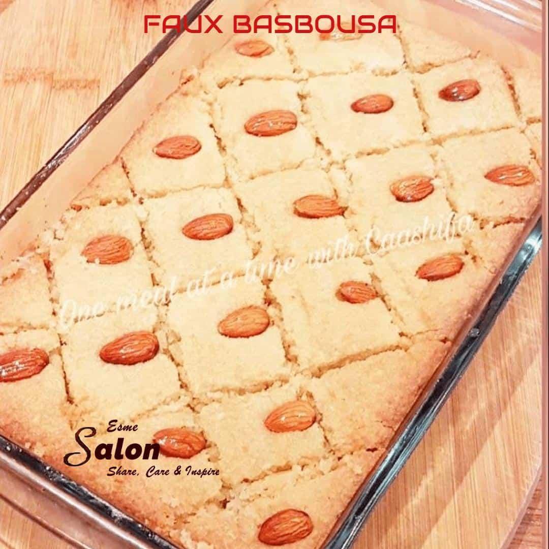 Low Carb Faux Basbousa  #shareEScare