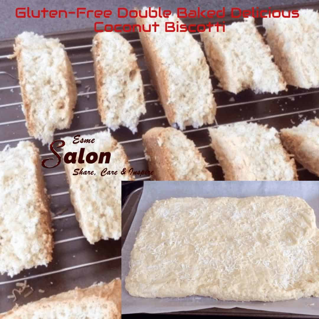 Gluten-Free Double Baked Delicious Coconut Biscotti.