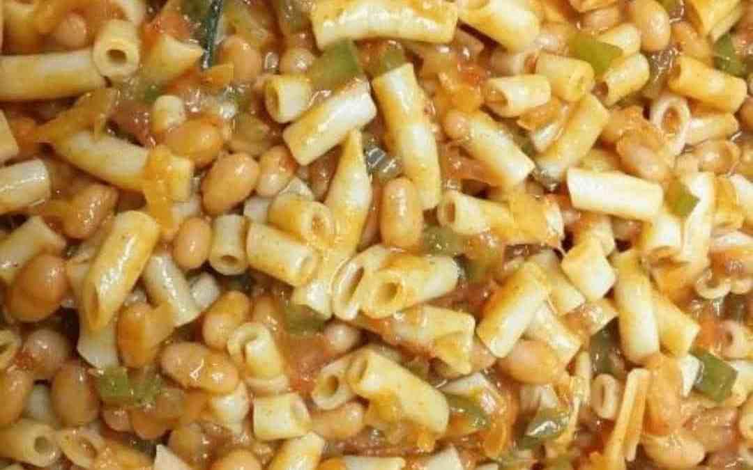 Vegetarian Pasta Casserole with Green Pepper