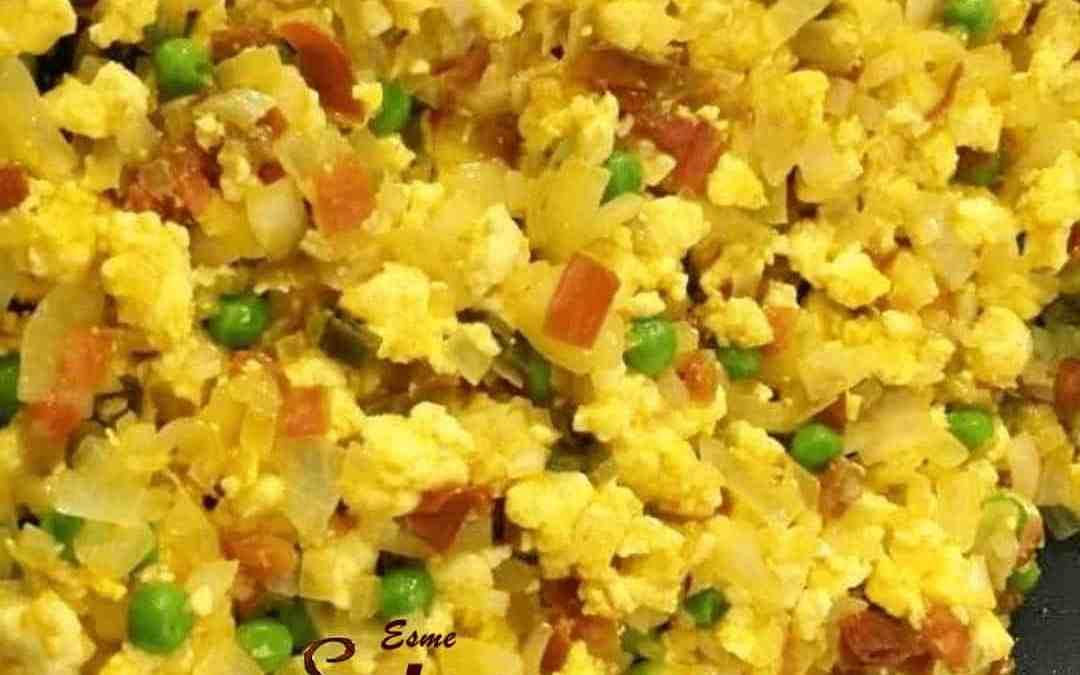 Eggless Scrambled Eggs