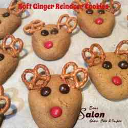 Soft Ginger Reindeer Cookies