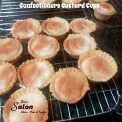 Confectioners Custard Cups with filling