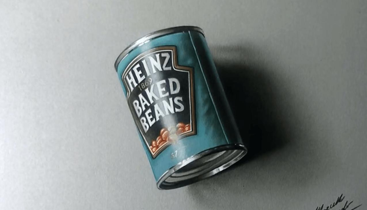 No es una lata Es el resultado de un dibujo perfecto