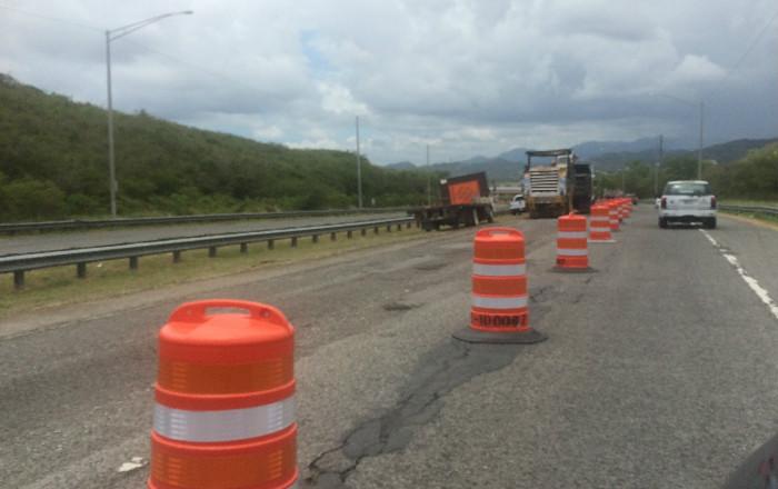 Vuelve el cierre de carril para asfaltar tramo de la autopista entre Ponce y Juana Díaz