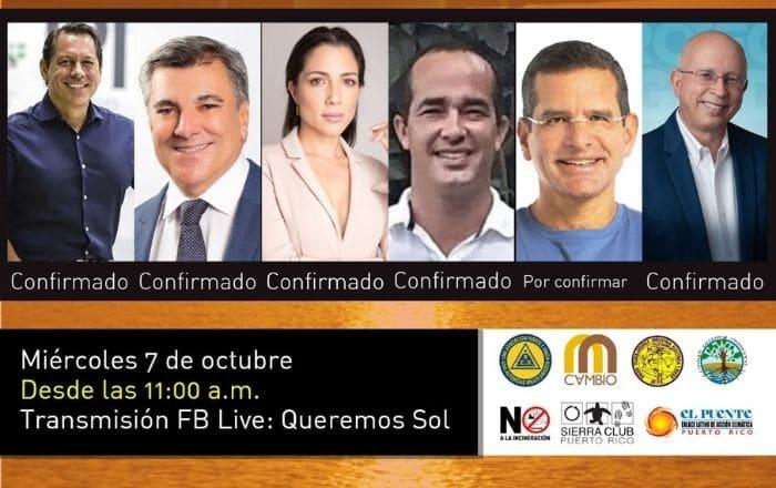 Candidatos a la gobernación discutirán el futuro energético de Puerto Rico