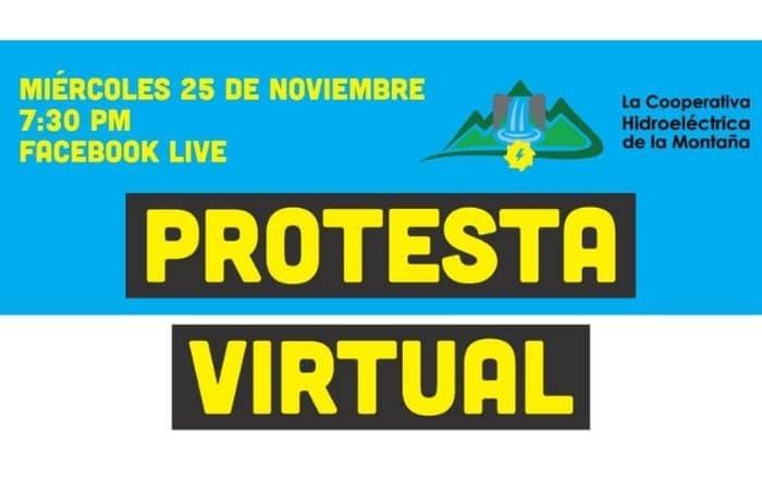 Cooperativa Hidroeléctrica de la Montaña protestará virtualmente por inacción del gobierno