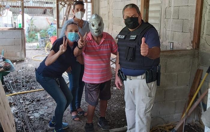 Samaritanos remozan la vivienda del 'Rayo Kid'