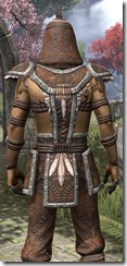 Argonian Homespun Shirt - Male Close Back