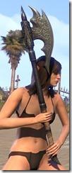 Ebony Iron Battle Axe 2