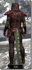 Ashlander Medium - Argonian Male Rear