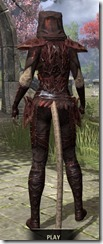 Ashlander Medium - Khajiit Female Rear