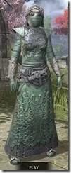 Ashlander Homespun - Khajiit Female Robe Front