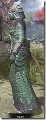 Ashlander Homespun - Khajiit Female Robe Side