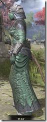 Ashlander Homespun - Khajiit Female Robe Side