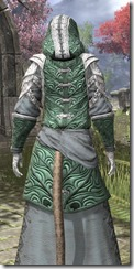 Abah's Watch Homespun - Khajiit Female Robe Close Rear