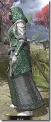 Abah's Watch Homespun - Khajiit Female Robe Side