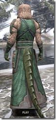 Akaviri Homespun - Argonian Male Robe Rear