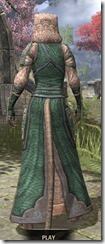 Akaviri Homespun - Khajiit Female Robe Rear