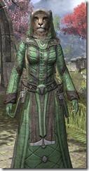 Ancient Elf Homespun - Khajiit Female Robe Close Front
