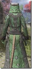 Ancient Elf Homespun - Khajiit Female Robe Close Rear