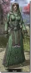 Ancient Elf Homespun - Khajiit Female Robe Front