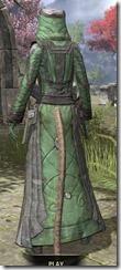 Ancient Elf Homespun - Khajiit Female Robe Rear