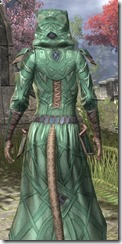 Ancient Orc Homespun - Khajiit Female Robe Close Rear