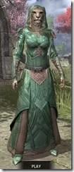 Ancient Orc Homespun - Khajiit Female Robe Front