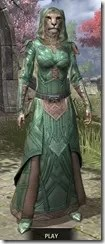 Ancient Orc Homespun - Khajiit Female Robe Front