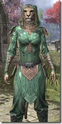 Ancient Orc Homespun - Khajiit Female Shirt Close Front