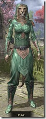 Ancient Orc Homespun - Khajiit Female Shirt Front