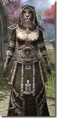 Argonian Cotton - Khajiit Female Robe Close Front