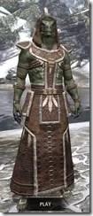 Argonian Homespun - Argonian Male Robe Front