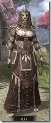Argonian Homespun - Khajiit Female Robe Front