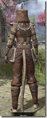 Argonian Homespun - Khajiit Female Shirt Rear