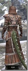 Argonian Linen - Argonian Male Robe Rear