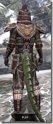 Argonian Spidersilk - Argonian Male Shirt Rear