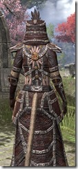 Argonian Spidersilk - Khajiit Female Robe Close Rear