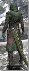 Assassins League Homespun - Argonian Male Robe Rear