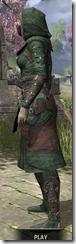 Assassins League Homespun - Khajiit Female Robe Side