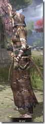 Barbaric Homespun - Khajiit Female Robe Side