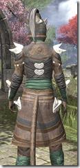 Anequina Homespun - Khajiit Female Shirt Close Rear