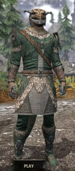 Icereach Coven Rawhide - Argonian Male Front