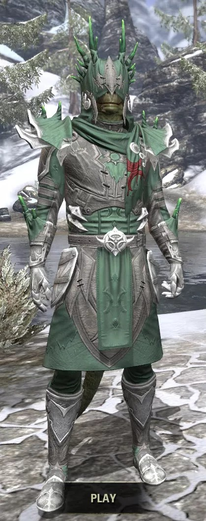 New Moon Priest Iron - Argonian Male Front