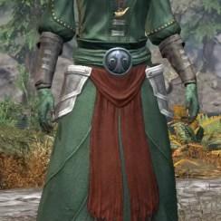 Pyre Watch Homespun - Khajiit Female Robe Front