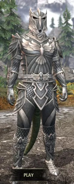Ancestral High Elf Iron - Argonian Male Front